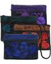 Floral Embroidery Over-Dyed Organizer WALLET Purse