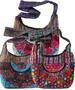 Floral Embroidery Huipil and Eyelet Lace SHOULDER BAG, 16 x 12 x