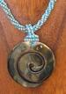 Spiral Shell NECKLACE with Beaded Cord