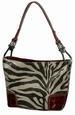 Glittery Zebra Print SHOULDER BAG