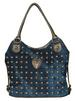 DENIM STUDS HANDBAG